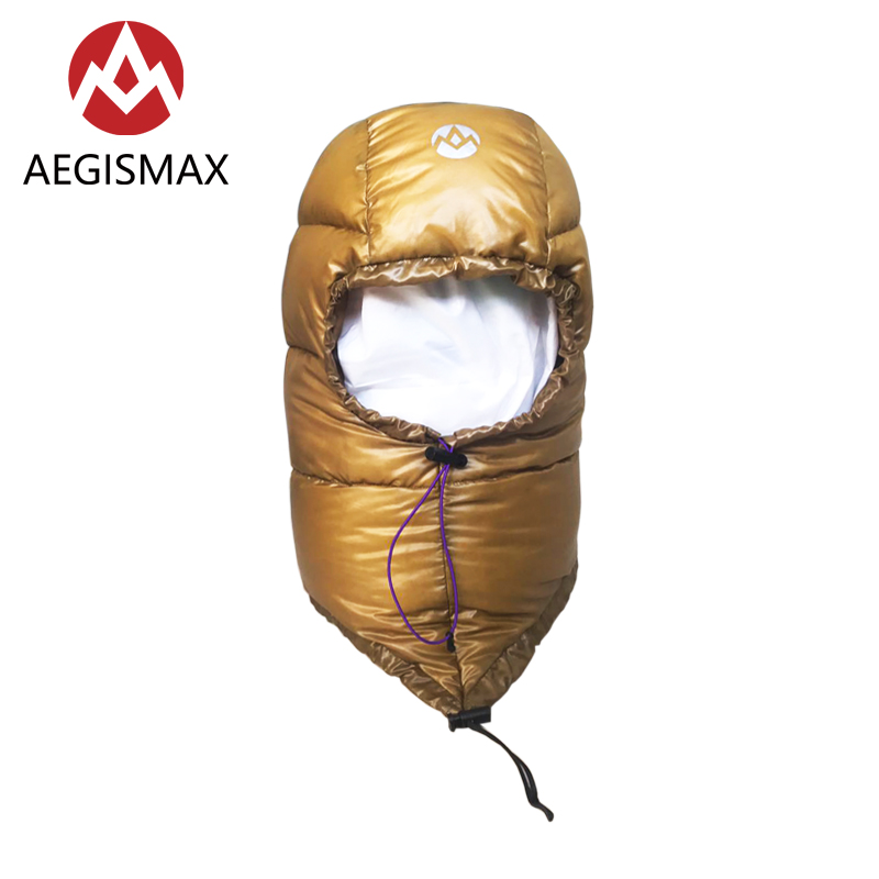 AEGISMAX Outdoor Camping Keep Warm Down Hat Golden Unisex Travel Winter Protection Alpine Cap