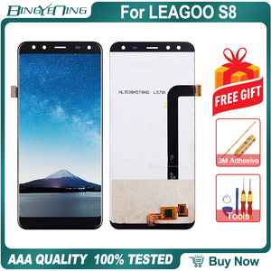 Image 1 - New Original For Leagoo S8 LCD&Touch screen Digitizer with frame display Screen module Repair Replacement Accessories Parts
