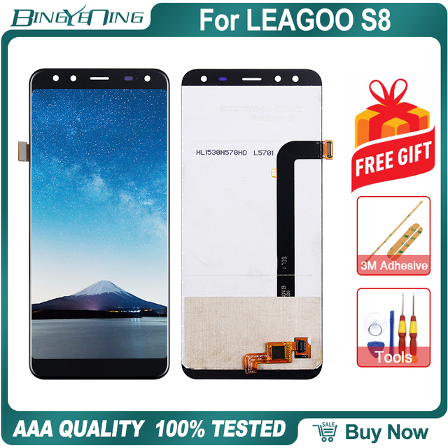 New Original For Leagoo S8 LCD&Touch screen Digitizer with frame display Screen module Repair Replacement Accessories Parts
