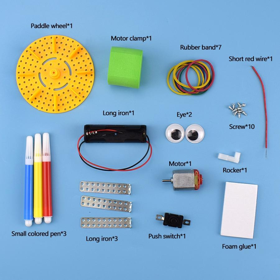 Купить diy наборы граффити робот модель игрушки для детей сделай вибрацию
