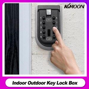 Image 1 - 屋内屋外キーロックボックスウォールはアルミ合金キー金庫全天候カバー 10 桁のコンビネーションキー収納ロックボックス