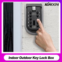 Indoor Outdoor Key Lock Box Wall Mounted Aluminum alloy Key Safe Box Weatherproof Cover 10Digit Combination Key Storage Lock Box
