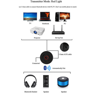 Image 4 - VIKEFON 2 IN 1 Bluetooth 5.0 4.2 Receiver Transmitter RCA 3.5mm 3.5 Jack AUX Stereo Car Wireless Audio Adapter For PC TV Speaker
