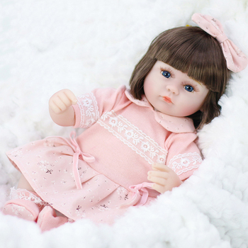 42CM Girl Toys Soft Silicone Reborn Baby Dolls Surprises Gifts Realistic Baby Doll Newborn Vinyl Boneca Reborn Dolls For Kids