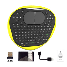 New T8 Wireless Mini Keyboard 2.4G Air Fly Mouse Rubber Keyboard Muti-touch Touchpad For Android TV Box Notebook Tablet PC 2017 new mc 35ag wireless touch digital keyboard touch mouse 2 4g wireless mini keyboard touch pads for pc