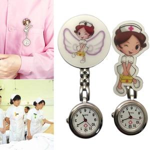 Cute Nurse Quartz Chest Pocket Watch Cartoon Portable Round Dial Doctor Gift H9