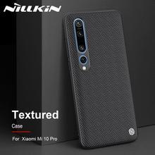Fall für Xiaomi Mi 10 Mi10 Pro 5G NILLKIN Strukturierte Nylon Faser Durable Non slip Fall Zurück Abdeckung für Xiaomi Mi 10 Pro Telefon Fall