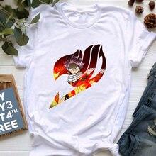 Забавные женские футболки с рисунком Феи хвоста модные топы