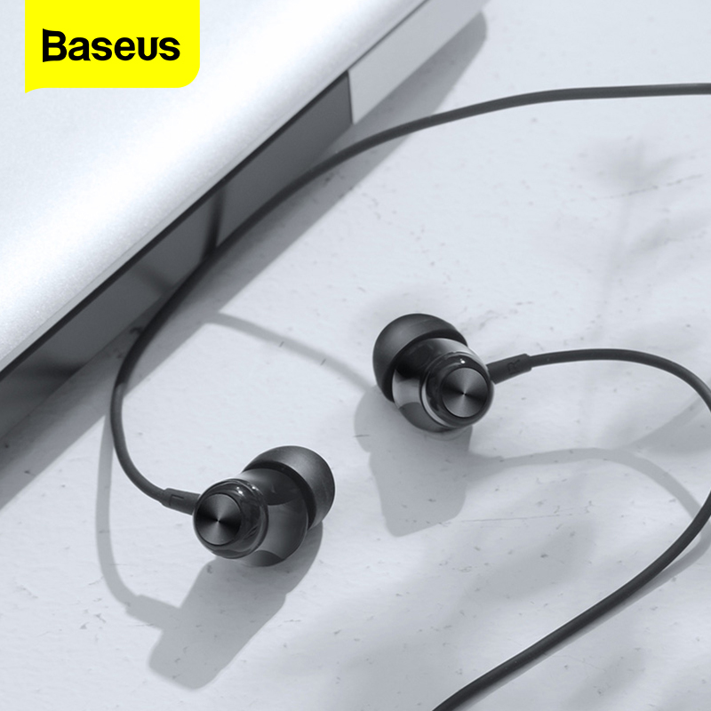 ÇCloseout DealsBaseus Wired Earphone Headset Mic-Earbud Auriculares with for Samsung Fone-De-Ouvido­