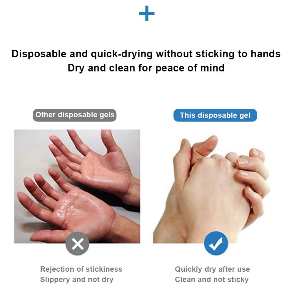 100ml Effective Disinfection Hand Sanitizer Portable Hand Cleaner Sanitizer Hand Soaps Disposable Waterless Clear 1