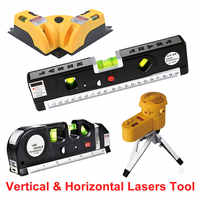 Measuring Tool 4 Type Multifunction Cross Line Tool Device LED Laser Level Vertical Horizontal Equipment