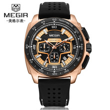 цена на 2019 High Quality watch men Trendy Military Watches Sport Wristwatch Quartz Watch Men Silicone Waterproof  Watches
