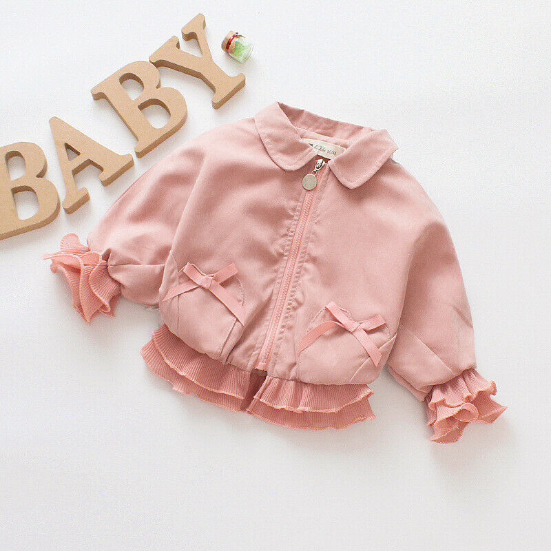 Emmababy Newborn Baby Girl Kid Outerwear Zipper Autumn Winter Jackets Clothes Top 0-7Y