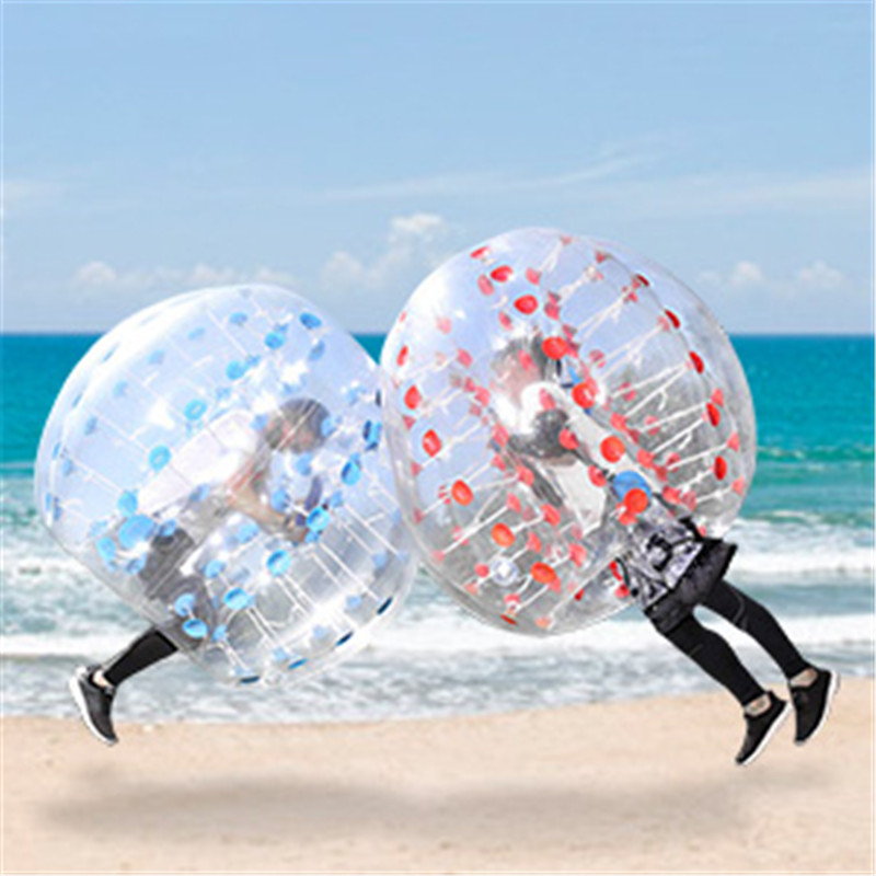 1.2m Inflatable Toys For Children Adults 0.8mm PVC Body Air Bubble Soccer Zorb Ball Bumper Ball Football Outdoor Sports Game