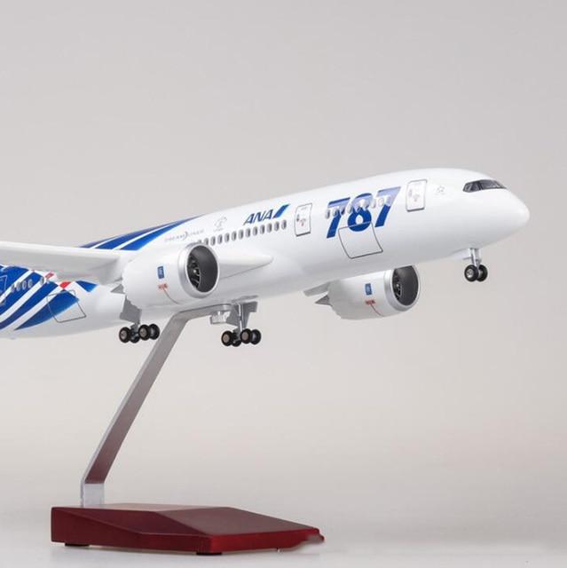 47cm avion 1/130 échelle Simulation Boeing B787 alliage avion modèle japon ANA compagnies aériennes piédestal lumière et roues moulé sous pression PlasticToy