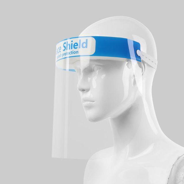 Full Face Protective Shield Visor Plastic Adjustable Transparent Face Shield to Prevent Saliva Adult Children 1