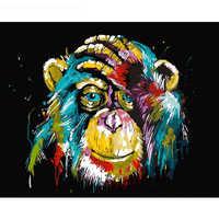 GATYZTORY, Безрамное, с изображением животных-бабочек, сделай сам, краска по номерам, настенная художественная картина, краска по номерам, холст, ...