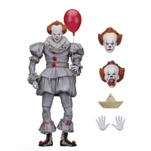 цена на 18cm Stephen King's It Neca Clown Pennywise Joker Action Figure Toy PVC Horror Movie Dolls Collectible Model Boy Toys Gift