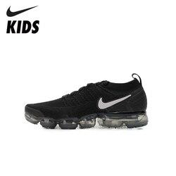 Nike Air Vapormax Flyknit 2  Детская Обувь Оригинальная Воздушная Детская Обувь Для Бега Уличные Спортивные Кроссовки #942842