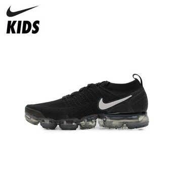 Nike ar vapormax flyknit 2 crianças sapatos de almofada de ar originais crianças correndo tênis esportes ao ar livre #942842