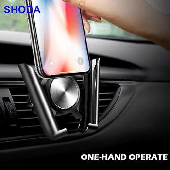 SHODA-Soporte de teléfono para coche, soporte Universal para teléfono móvil, soporte de ventilación de aire