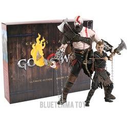 God of War figure toy Kratos & Atreus Ultimate KO's NECA Axe Shield Son Loki set PVC Action Figure Model Toy