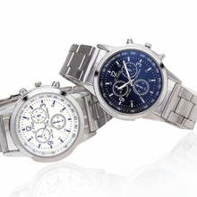 Высококачественные мужские часы с зеркалом Blu-ray, модные кварцевые наручные часы из серебристой стали, военные армейские мужские часы, Relojes ...