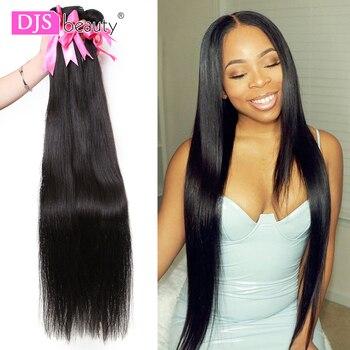8-30 40 Inch Brazilian Hair Weave Bundles Long Length 1/3/4 PCS Human Hair Bundles Straight Natural Color Remy Hair Extensions