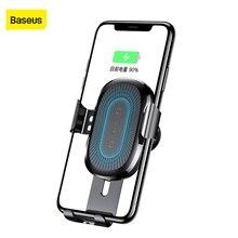 Baseus Qi araba iPhone için kablosuz şarj X XR 8 Samsung Galaxy S9 S8 cep telefonu tutucu hızlı kablosuz şarj cihazı araç şarj cihazı