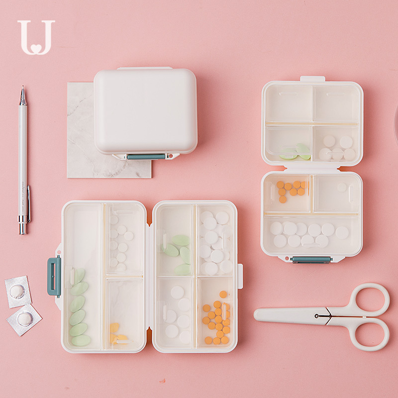 Xiaomi Jordan&Judy PP Portable Small Pill Box Sealed Packing Kit Mini Pill Box 7 Compartments Carrying The Medicine Box