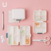 Youpin Jordan & Judy PP портативная маленькая коробка для таблеток, герметичный упаковочный комплект, мини коробка для таблеток, 7 отсеков, коробка для лекарств