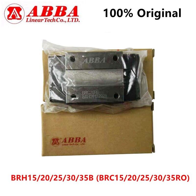 Oryginalny tajwan ABBA liniowy blok BRH15B BRC15RO BRH20B BRC20RO BRH25B BRC25RO BRH30B BRC30RO BRH35B BRD35RO suwak łożyska CNC