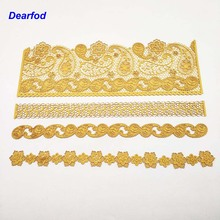 DBS003 Silicone Mold Big Size Flower pattern Lace Sugar Craft Cake Brim Decoration Tool