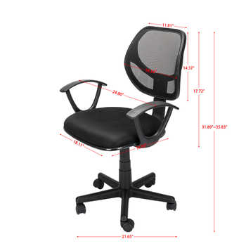 Home Office Room Use Nylon Five-star Feet Mesh Chair Gaming Chair Office Desk Chairs Black Need to Assemble