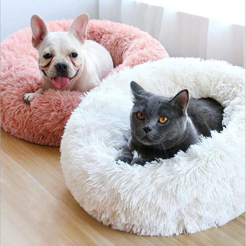 Long Plush Super Soft Cat Bed Kennel Dog Sofa Cat Winter Warm Sleeping Bag Puppy Cushion Mat Portable All Sizes Nest House-in Cat Beds & Mats from Home & Garden