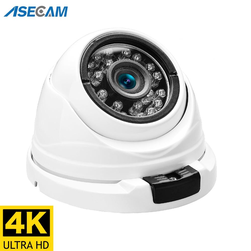 8MP 4K caméra IP POE H.265 Onvif métal intérieur petit dôme CCTV grand Angle 2.8mm sécurité 4MP caméra de Surveillance vidéo 1