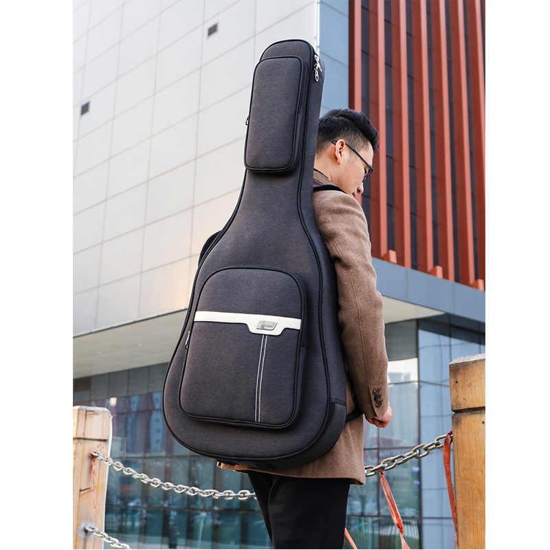 Universal 38 39 40 41 zoll gitarre paket Akustische Gitarre Doppel Gurte Gepolstert Gitarre Soft Case Tasche Wasserdichte Rucksack