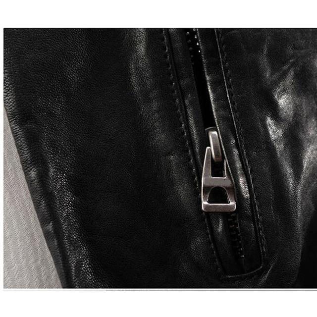 Men Leather Jacket Genuine Real Sheep Goat Skin Brand Black Male Bomber Motorcycle Biker Man's Coat Autumn Spring Clothes  zlg88 4