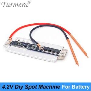 Турмера 4,2 V 12V DIY точечный сварщик механический для 18650 26650 32700 пайки батареи 0,15 мм и пайки батареи + Сварочная ручка