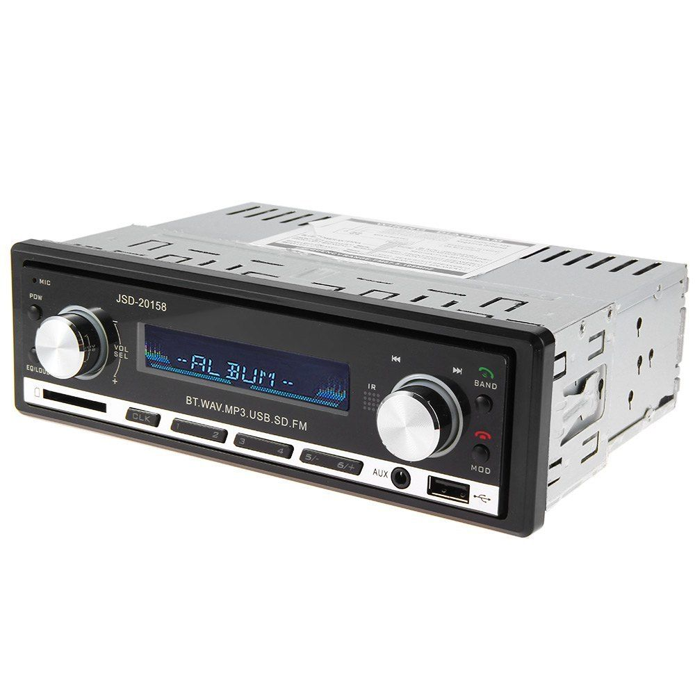 4x 60W 12V Car MP3 Player Radio Bluetooth Single Din Audio Stereo SD ID3 Display With Remote Control Car Accessories