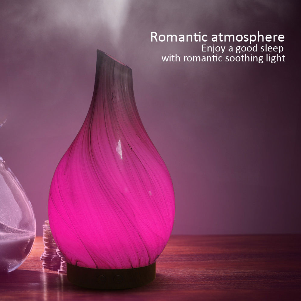 Wooden Glass Aromatherapy Pure Essential Oils Diffuser Air Nebulizer Humidifier Air Conditioning Appliance Household Humidifier Pakistan