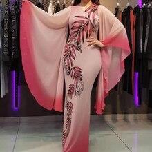 African Dresses For Women Pink Clothes Boubou Africain Dress Womens 2019 Autumn Long Sleeve Ankara
