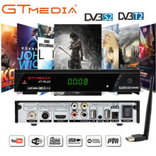 GTMEDIA V7 PLUS HDMI Satellite Tv Receiver Tuner Dvb T2 Wifi Usb2.0 Full-HD 1080P Dvb-s2 Tuner TV Box Spain Italy Cccam 5 Cline(China)