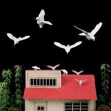 Modelo a escala de palomas en miniatura, Kits de diseño de aves para Diorama, arquitectura, Material de fabricación de escenas de zoológico
