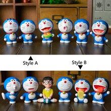 Six a set Nobita Nobi Doraemon car decoration doll suit desktop decoration