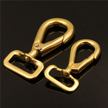 A Pair of Brass Snap Hook Square Swivel Eye Bag Clasps Buckle for Leather Craft Strap Belt Webbing Dog Rope Leash Clips