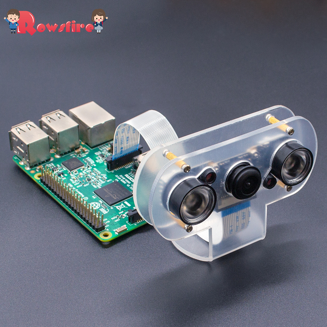 5MP 1080P Infrared Night Vision Fish-Eye Wide-Angle Camera Set With Acrylic Shell Cooling Fin For Raspberry Pi 4B/3B+