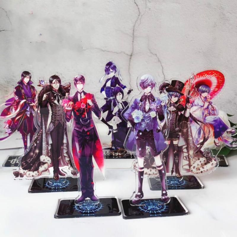 1pc New Cool Anime Black Butler Sebastian Ciel Acrylic Stand Figure Desktop Decor Collection Model Toy Doll Gift Cosplay