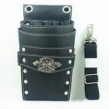 Kapper Pu Leer Scissor Bag Duurzaam Salon Tool Pouch Storage Case Met Taille Schouder Riem Beschikbaar In 3 Kleuren