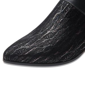 Image 5 - ALLBITEFO doğal koyun derisi inek hakiki deri yarım çizmeler marka moda kız çizmeler için sıcak satış sonbahar kış rahat kadın botları